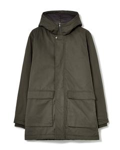 Padded Hooded Coat Khaki