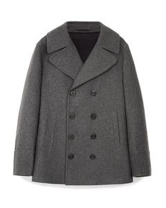 Garner Wool Blend Pea Coat Grey