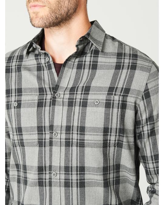 MVP Alie Checked Cotton Flannel Shirt Grey