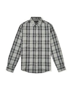 Alie Checked Cotton Flannel Shirt Grey