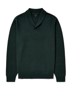 Shawl Collar Jumper Forest Green