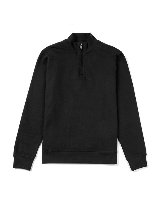 MVP Vyner Funnel Neck Cotton Sweatshirt Black