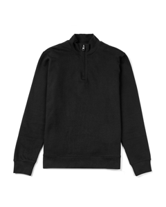 Vyner Funnel Neck Cotton Sweatshirt Black