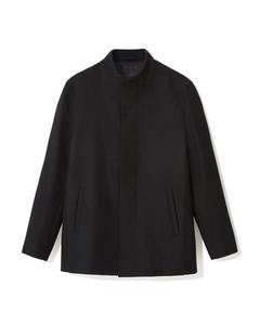 Lomas Funnel Neck Wool Mix Coat Black