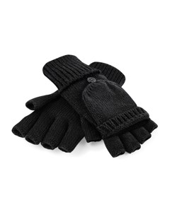 Beechfield Adults Unisex Fliptop Knitted Winter Gloves