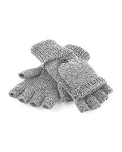Beechfield Adults Unisex Fliptop Knitted Winter Gloves