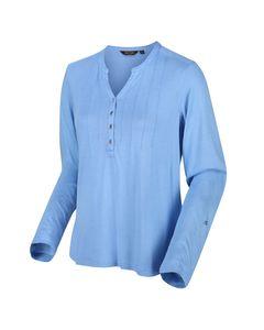 Regatta Womens/ladies Fflur Long Sleeved Half Button Top