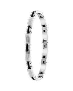 Armband, Edelstahl, Kettenglied, schwarz