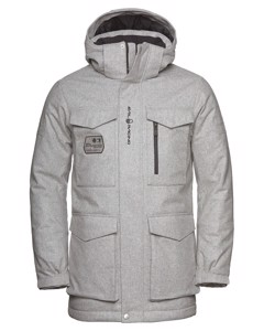Glacier Bay Wool Parka Grey Melange