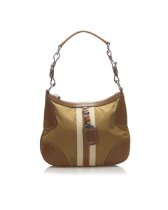 Prada Tessuto Shoulder Bag Brown
