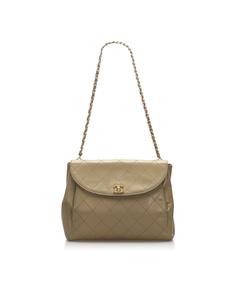 Chanel Wild Stitch Leather Shoulder Bag Brown