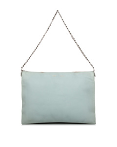Celine Trio Chain Leather Shoulder Bag Blue