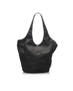Fendi Nylon Tote Bag Black