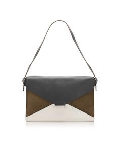 Celine Diamond Leather Shoulder Bag Black