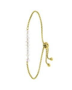 Armband aus vergoldetem Edelstahl mit weißen Perlen