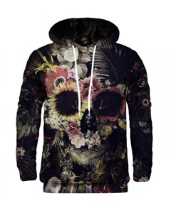 Mr. Gugu & Miss Go Memento Mori Unisex Hoodie Field Drab Brown