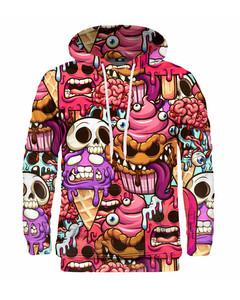 Mr. Gugu & Miss Go Zombie Ice Cream Unisex Hoodie Glam Pink