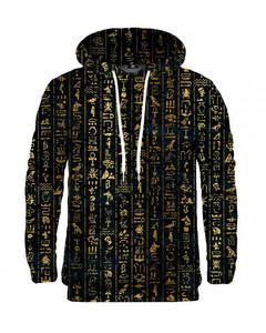 Mr. Gugu & Miss Go Hieroglyphs Unisex Hoodie Satin Gold