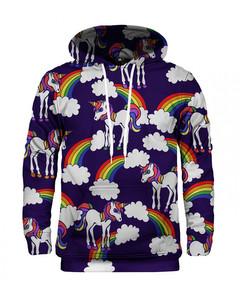 Mr. Gugu & Miss Go Rainbow Unicorns Unisex Hoodie Byzantium Violet