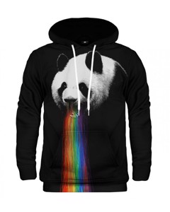 Mr. Gugu & Miss Go Pandalicious Unisex Hoodie Raisin Black