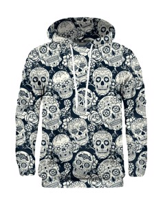 Mr. Gugu Miss Go Skull Flower Hoodie Grey