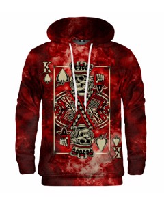 Mr. Gugu & Miss Go Red King Of Skull Unisex Hoodie Lava Red