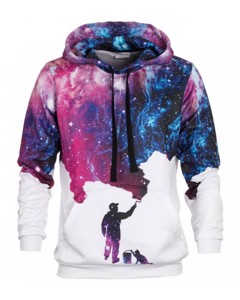 Mr. Gugu & Miss Go Galaxy Picture Unisex Hoodie Space Violet