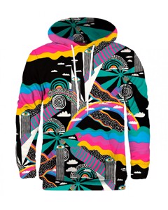 Mr. Gugu Miss Go Rainbow Landscape Hoodie Teal