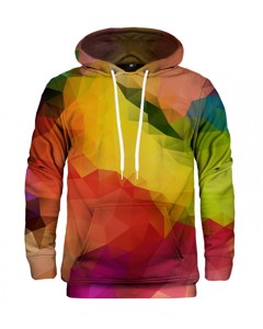 Mr. Gugu & Miss Go Colorful Geometric Unisex Hoodie Sunglow Orange