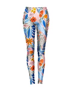 Mr. Gugu & Miss Go Floral Pattern Leggings Iris Blue