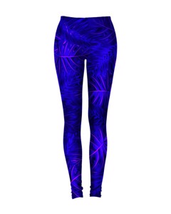 Mr. Gugu & Miss Go Tropical Dark Blue Leggings Russian Violet