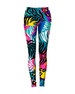 Mr. Gugu Miss Go Neon Animals Leggings Teal