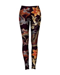 Mr. Gugu & Miss Go Japanese Dragon Leggings Royal Brown