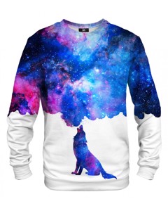 Mr. Gugu & Miss Go Howling To Galaxy Unisex Sweater Star Blue