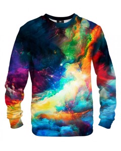 Mr. Gugu & Miss Go Colorful Space Unisex Sweater Rainbow