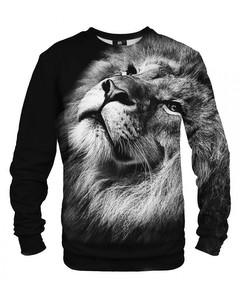 Mr. Gugu & Miss Go Black Lion Unisex Sweater Midnight Black
