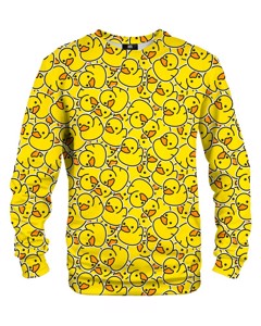 Mr. Gugu & Miss Go Rubber Duck Unisex Sweater Joyful Yellow