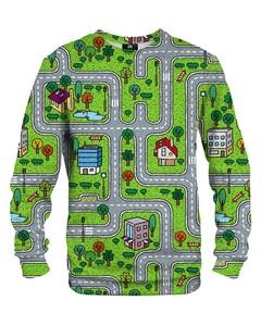 Mr. Gugu & Miss Go City Carpet Unisex Sweater Urban Green