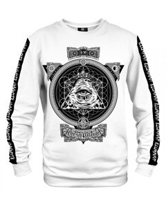 Mr. Gugu & Miss Go Illuminati Djp Unisex Sweater Black And White