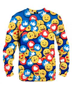 Mr. Gugu & Miss Go React Unisex Sweater Joyful Blue