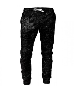 Mr. Gugu & Miss Go Stars Unisex Sweatpants Galaxy Black
