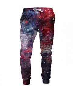 Mr. Gugu & Miss Go Deep Red Nebula Unisex Sweatpants Carmine Red