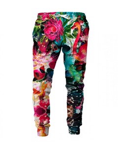 Mr. Gugu & Miss Go Colorful Flamingo Unisex Sweatpants Hot Magenta Pink