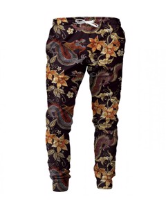 Mr. Gugu Miss Go Japanese Dragon Sweatpants Brown