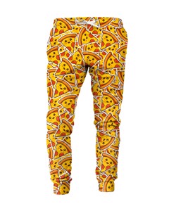 Mr. Gugu & Miss Go Pizza Pattern Unisex Sweatpants Mango Yellow