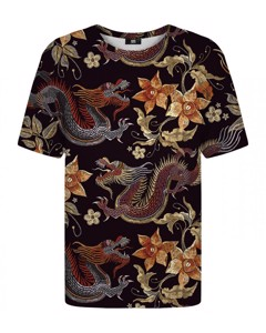 Mr. Gugu Miss Go Japanese Dragon T-shirt Brown