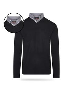 Pierre Cardin Mock Pullover Zwart