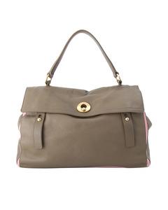 Ysl Muse Two Leather Handbag Brown