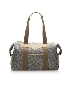 Ysl Printed Duffle Bag Gray