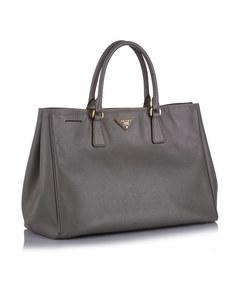 Prada Saffiano Galleria Handbag Brown